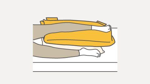 RM1-H 側臥位の下肢サポート