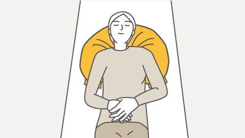 RM4-H 仰臥位の胸郭・頭部サポート